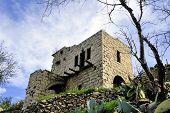 stock photo of abandoned house  - Abandoned house of Arab Lifta village near Jerusalem Israel - JPG