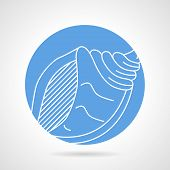 foto of exoskeleton  - Abstract blue round vector icon with white line - JPG