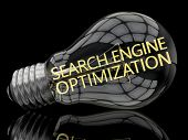 stock photo of lightbulb  - Search Engine Optimization  - JPG