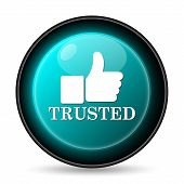 picture of trust  - Trusted icon - JPG
