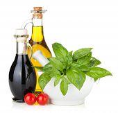 stock photo of vinegar  - Olive oil - JPG