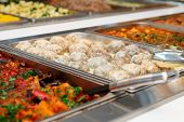 picture of meatball  - Meatballs and stewed vegetables in marmites - JPG