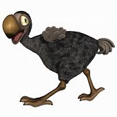 picture of dodo  - 3 d render of a toon dodo - JPG