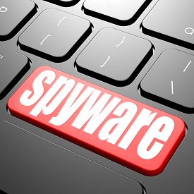 stock photo of spyware  - Keyboard with spyware text image with hi - JPG