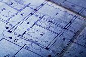 Architecture Blueprint Concept Plan poster