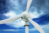 stock photo of wind-turbine  - north queensland wind turbine - JPG