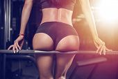 Pretty Fitness Sexy Model Luxury Ass Fat Burning Concept poster