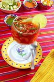 picture of poblano  - cocktail of shrimps mexican chili sauces lemon latin seafood Mexico - JPG