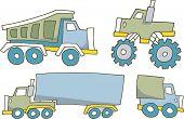 picture of monster-truck  - Truck set Vector Illustration - JPG