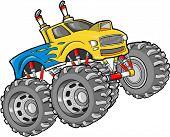 stock photo of monster-truck  - Monster Truck Vector Illustration - JPG