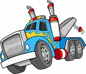 foto of tow-truck  - Tow Truck Vector Illustration - JPG