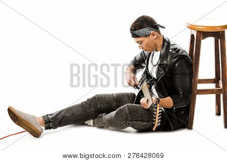 Concentrated Young Man Musician In