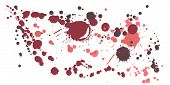 Ink Stains Grunge Background Vector. Sprawling Ink Splatter, Spray Blots, Dirty Spot Elements, Wall  poster