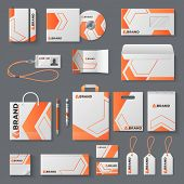 Corporate Identity Mockup. Office Stationery Branding Business Card Letter Envelope Mug Brand Brochu poster