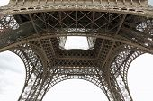 Detail Of The Eiffel Tower In Paris Seen From Below poster