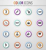 Rap Music Icon Set For Web Sites And User Interface poster
