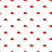 Rap Cap Pattern Seamless Vector Repeat For Any Web Design poster