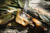 Appetizer Of Smoked Fish Hot Smoking Cold Smoking Dried Fish To Beer poster
