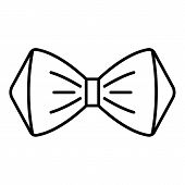 Elegant Bow Tie Icon. Outline Elegant Bow Tie Vector Icon For Web Design Isolated On White Backgroun poster
