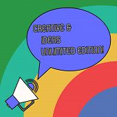 Handwriting Text Creative And Ideas Unlimited Edition. Concept Meaning Bright Thinking Limitless Cre poster