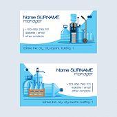 Water Bottle Vector Man Woman Character Delivering Clean Water Drink Liquid Aqua Bottled In Plastic  poster