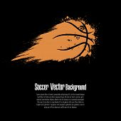 Grunge Basketball Background. Abstract Basketball Ball Made From Blots. Basketball Design Pattern. V poster