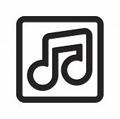 Music Player Vector Icon On White Background. Music Player Icon In Modern Design Style. Music Player poster