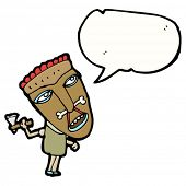 picture of cannibalism  - cartoon cannibal with speech bubble - JPG