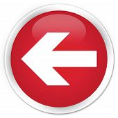 Back Arrow Icon Red Button