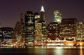 foto of new york night  - new york city skyline at night - JPG