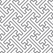 stock photo of swastika  - Ethnic vector seamless pattern of gray lines - JPG