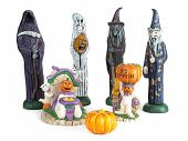 Halloween spooky ceramic family reunion