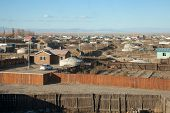 stock photo of bator  - A typical Mongolian city - JPG
