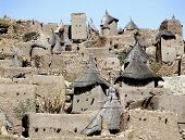 pic of dogon  - Traditional Graineries Dogon village Tireli Mali - JPG