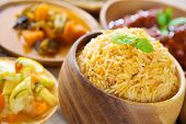 stock photo of pakistani  - Biryani rice or briyani rice - JPG