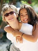 picture of mother daughter  - happy mother and daughter - JPG