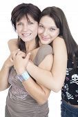 picture of mother daughter  - mother and daughter hug - JPG