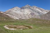 stock photo of aconcagua  - View of the mountains around Aconcagua valley Argentina - JPG