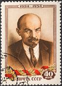 Portrait Of Communist Leader Lenin