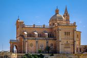 foto of gozo  - Side view of the basilica of the Blessed Virgin Of Ta Pinu in Gozo - JPG