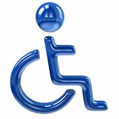 Blue handicap icon