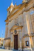 foto of gozo  - St Margaret church facade in the island of Gozo - JPG