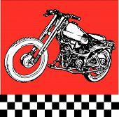 stock photo of yesteryear  - vector Moto motocycle retro vintage classic illustration - JPG
