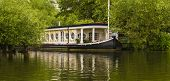 pic of isis  - A riverboat is moored on the Thames just outside of Oxford - JPG
