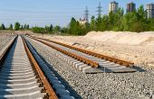 stock photo of tram  - New tracks  - JPG