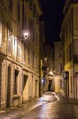 stock photo of avignon  - A street in night Avignon - France