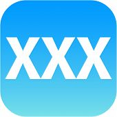 picture of pornographic  - blue XXX button or icon for phone web internet app - JPG