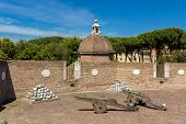 picture of cannon-ball  - Cannons in Castel Sant - JPG