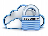 stock photo of intranet  - Abstract Blue Cloud security  - JPG