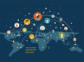 stock photo of social system  - Social Network Vector Concept - JPG